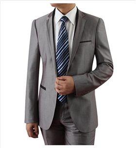 灰色搭配升级:定制西装、衬衫、领带配色一体-灰色商务定制西装搭配