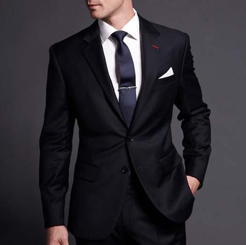 西服衬衫领带搭配图片