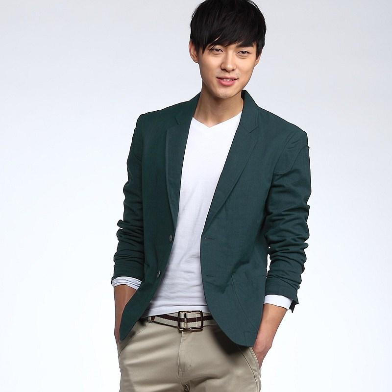 卡其色长裤=男士休闲定制西服搭配最经典的装扮你要