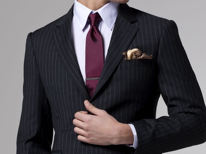 比小鲜肉帅多了,条纹西装时尚搭配