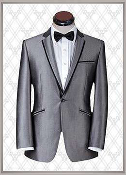 01 结婚西装银色时尚款