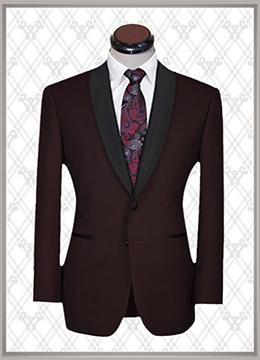 04 结婚西装酒红时尚款