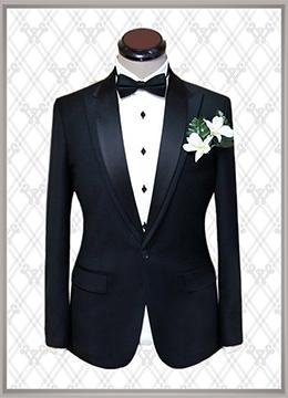 06 结婚西装黑色时尚款