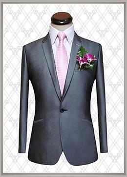 07 结婚西装银色时尚款