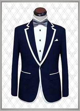 08 结婚西装蓝色时尚款