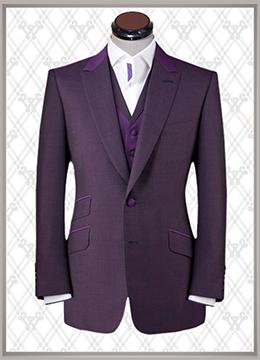 011 结婚西装紫色时尚款