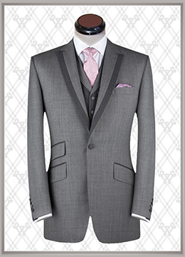 018 结婚西装浅灰时尚款