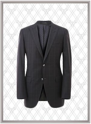 格纹西服套装SWN84655