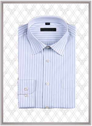 蓝色条纹衬衫SWN84344